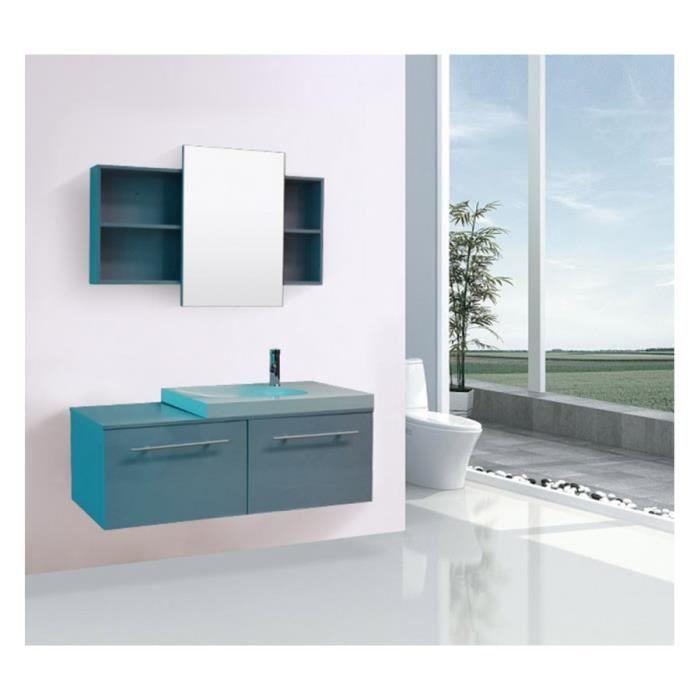 Meuble salle de bain complete gris achat vente meuble for Meuble salle de bain complet