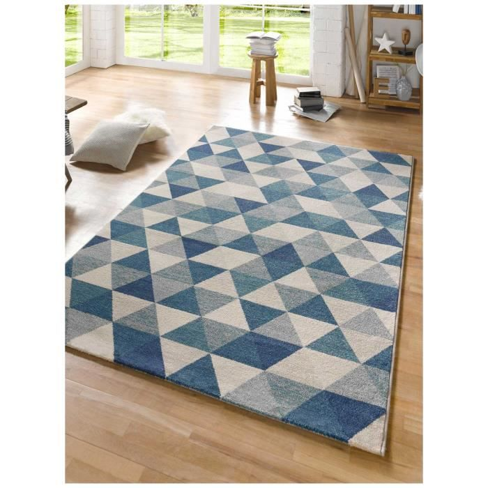 tapis salon scandesign bleu 200x290 par tapis moderne achat vente tapis soldes d s le. Black Bedroom Furniture Sets. Home Design Ideas