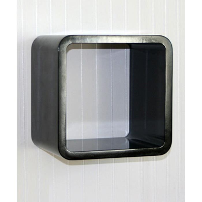 Étagère cube murale Noir   Achat / Vente casier pour meuble