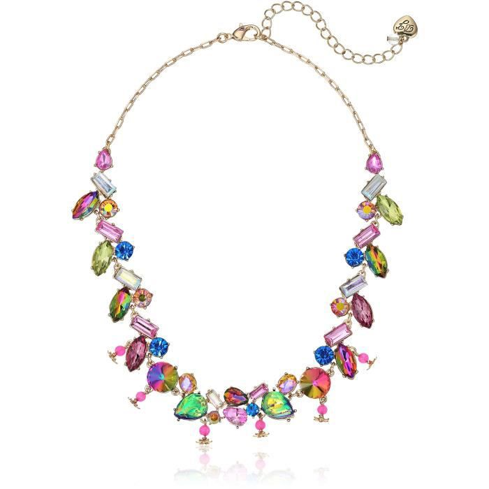 Betsey Johnson Surreal Forest Multi-stone Frontal Necklace EYQX6