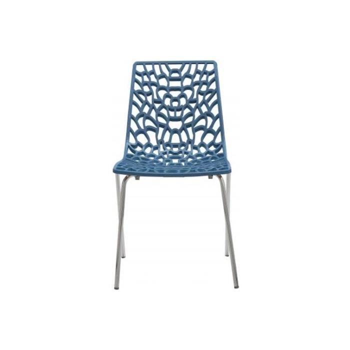 Chaise Design Bleu TRAVIATA