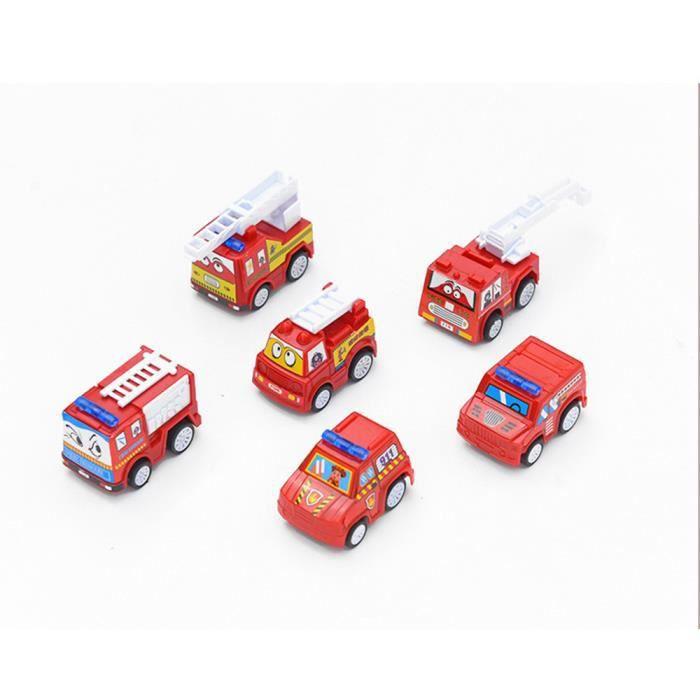Enfant Miniature Camion 6pcs Jouet Voiture De Pompier kXZiuOTP