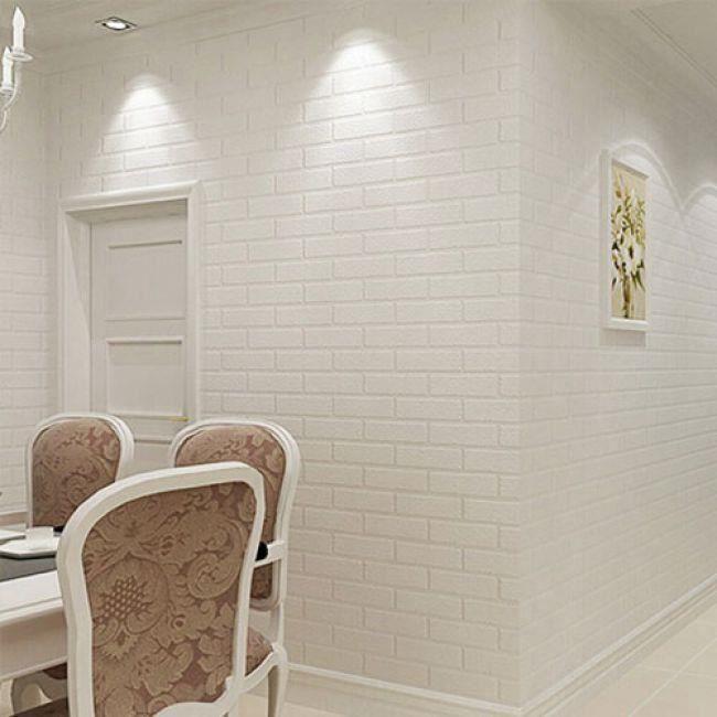 Papier Peint Solide En Relief Style Briques Pour Chambre Et Salon