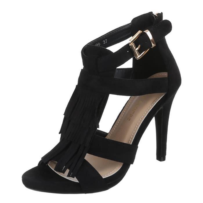 Chaussures femmes sandales Talon haut Escarpins avec s'effilocher