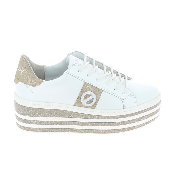100% de qualité style limité dernière remise Basket -mode - Sneakers No Name Boost Soft Blanc Or