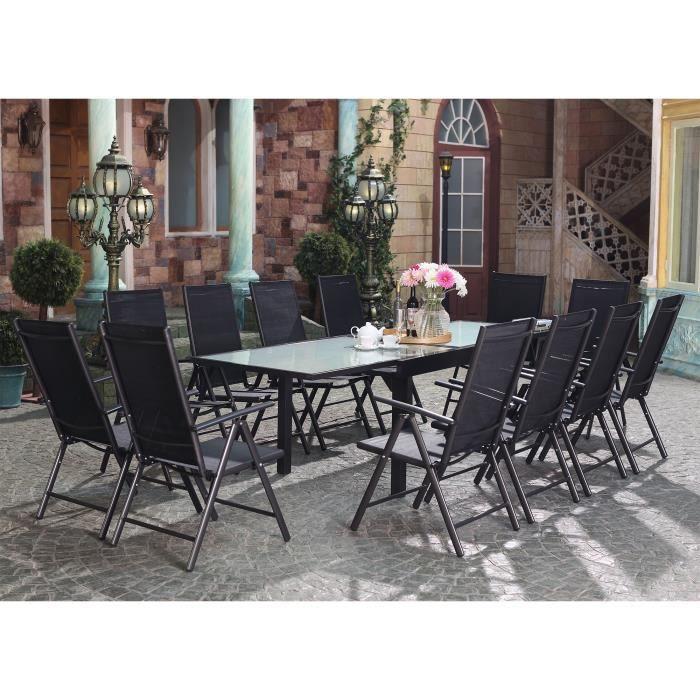 Velia Salon de jardin en aluminium 12 personnes - Achat / Vente ...