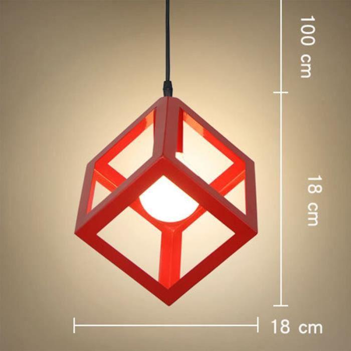 Red Suspension Cube Salles De Pour En Vert Créatif Luminaires Lustres Toutes Lustre Spectacles Creux Les bv7yYf6g