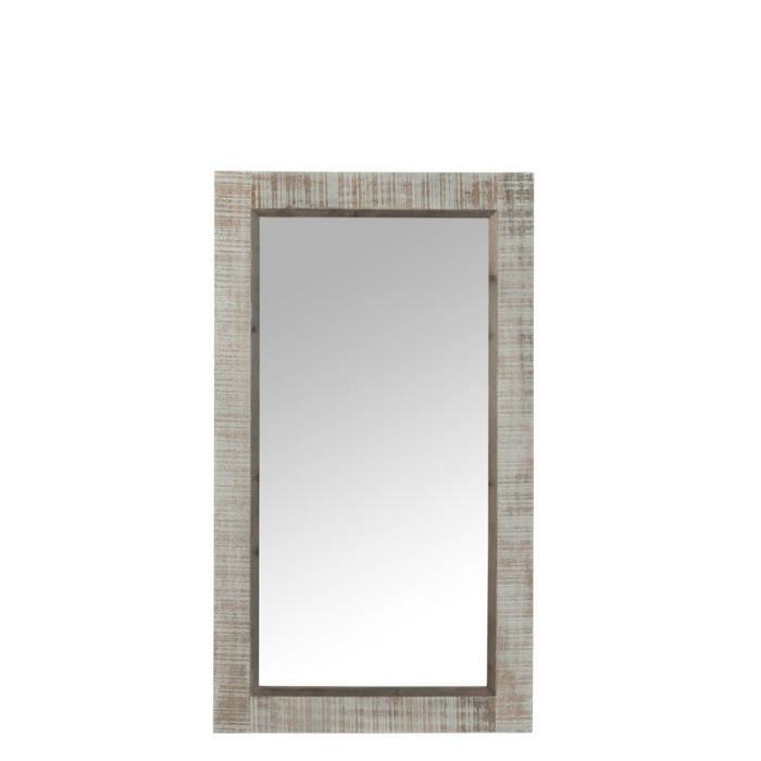 Miroir bois gris achat vente pas cher for Miroir bois gris