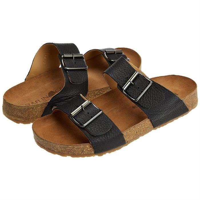 sandales/nu-pieds bio andrea homme haflinger 819016 45 Noir LAFTC7N
