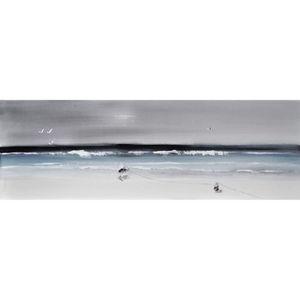 AFFICHE - POSTER Tableau déco Toile peinte à la main 50x150 - Paysa