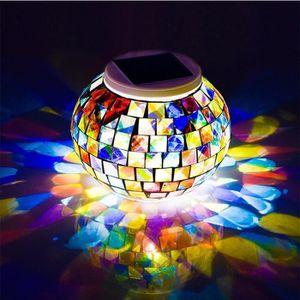 APPLIQUE EXTÉRIEURE Mosaic Boule en verre lumière solaire lampe lampes
