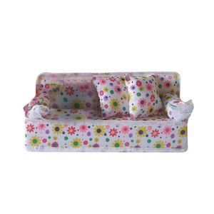 MAISON POUPÉE Belle miniature Meubles Sofa divan avec 2 coussins