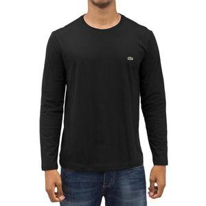32a5507a90 Lacoste Classic Homme Hauts / T-Shirt manches longues Classic Noir ...