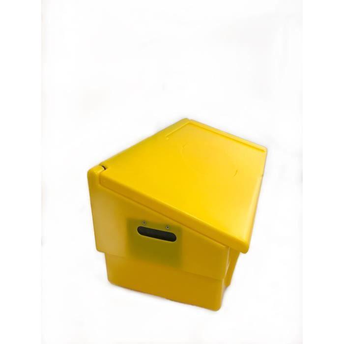 Coffre de jardin PEHD - 100 L - Jaune