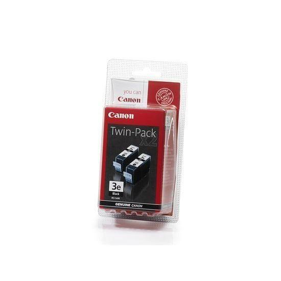 Canon TWINPACK: Pack de 2 cartouches d'encre noire BCI 3e Noir