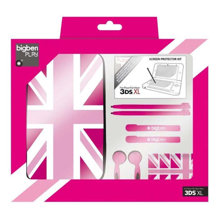 Pack de 6 elements drapeau anglais pour 3ds dsilxl et for Housse 3ds xl fille