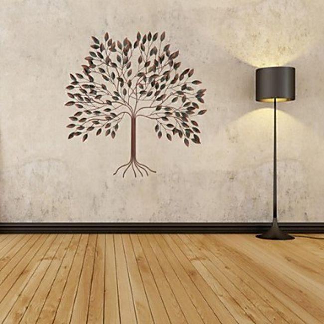 Beau Décoration Murale De Style Contemporain En Forme Arbre En Métal