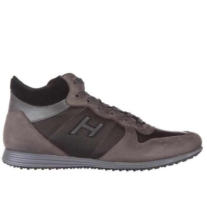 Chaussures baskets sneakers homme en cuirmid cut h205 olympia h flock Hogan
