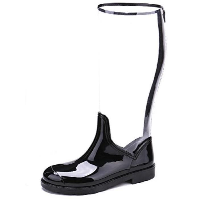 Pluie transparente Bottes Mi-mollet Mode pluie Chaussures IF6DV Taille-40
