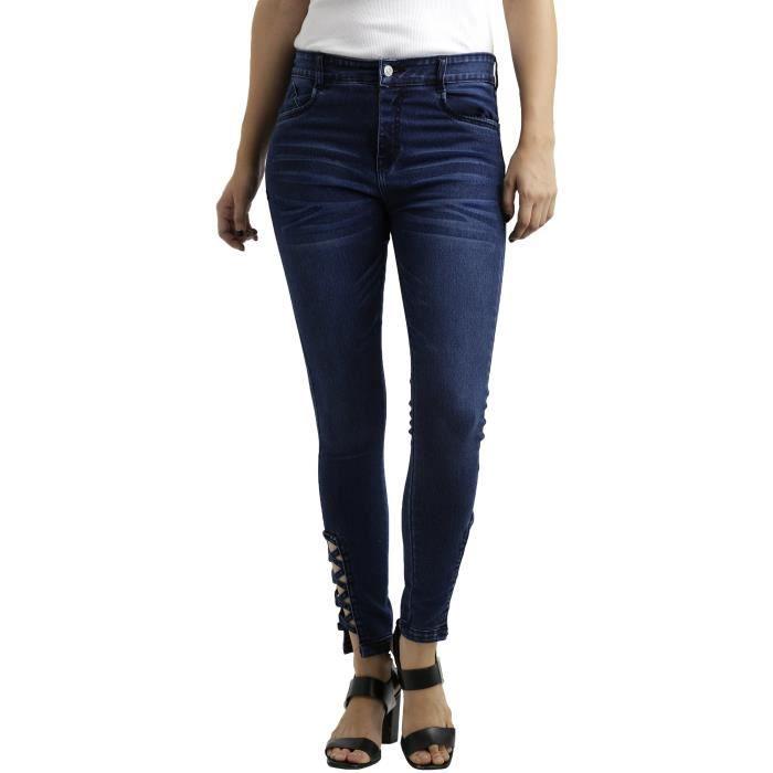 super populaire super pas cher 60% pas cher Bleu marine Criss Cross Jeans de femme TNF4S Taille-26