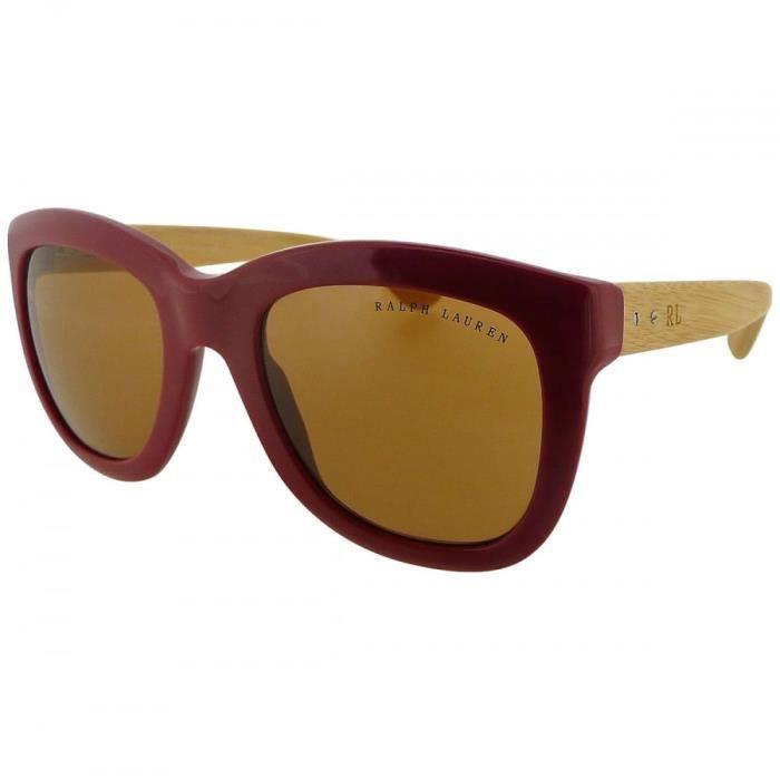 Ladies rouge surdimensionné wayfarer lunettes de soleil bois finition bras