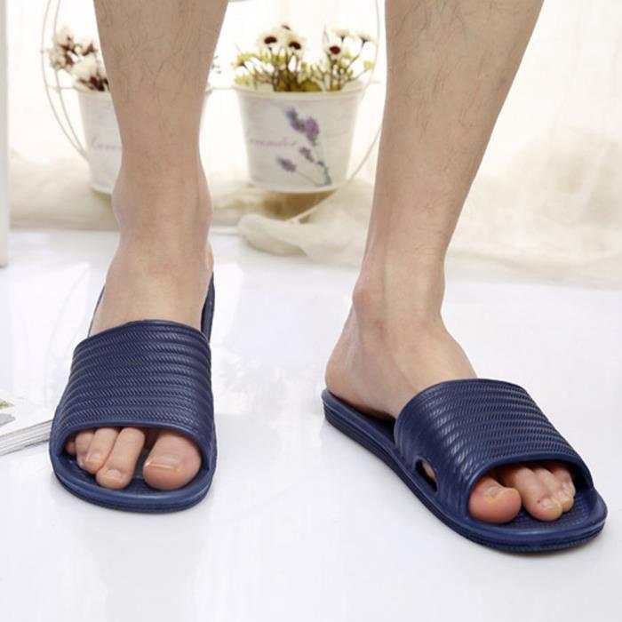 TM0065 Jiyaru Pantoufle Femme Homme Chaussons Salle de Bain Maison Antidérapage Confortable Sandales Marine 41 EU LNScKXuGhO
