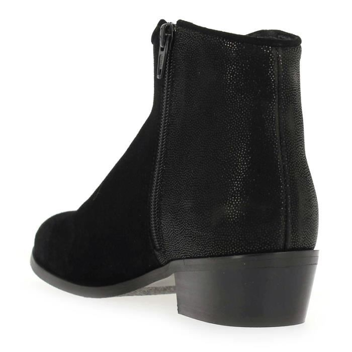 BOTTINES BLONDIE PEAU GALAXY NOIR/OR