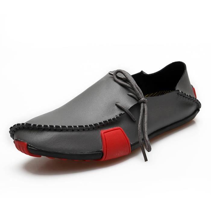 Hommes Mocassins Mocassins en cuir souple Enfilez Chaussures