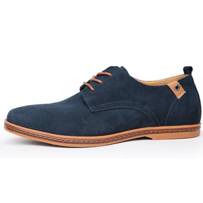 Pc9n1 Up Shoes Driving 45 Leather Pu Tm Mens Working Casual Lace Taille YWwzI5q8