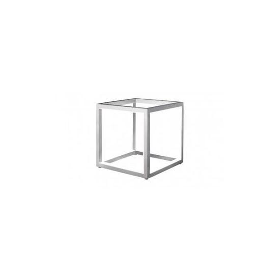 Leds Design Lampe 12 Cm Delux Aluminium À Cube Poser X 2HIDE9