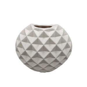 JARDINIÈRE - POT FLEUR  Vase Scandinave - Ovale - H 22 cm - Crème