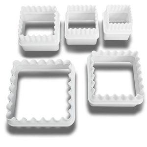 EMPORTE-PIÈCE  5 réversible carré lisse volant-Biscuits-Emporte-p