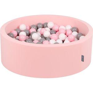 PISCINE À BALLES KiddyMoon 90X30cm/200 Balles ∅ 7Cm Piscine À Balle