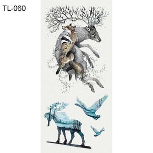 TATOO - BIJOU DE CORPS 5 feuilles de tatouage temporaire loup ours tigre