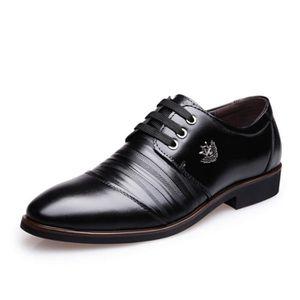 Mode homme en cuir bout pointu Chaussures Classique Bullock mariage d'affaires Chaussures de tenue décontractée Plus Size e1LSDQ