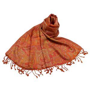 ECHARPE - FOULARD SHANKARA Etole Viscose Motif Cachemire Aspect Sati