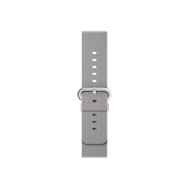 Apple Bracelet de montre connectée pour iWatch - Nylon tressé - 38 mm - Perle