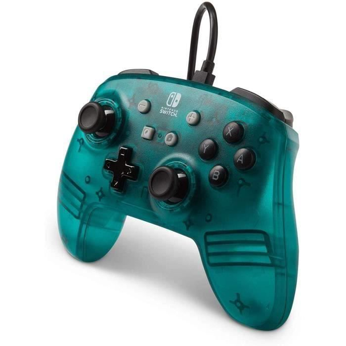 Power a manette nintendo switch wired controller bleu frost