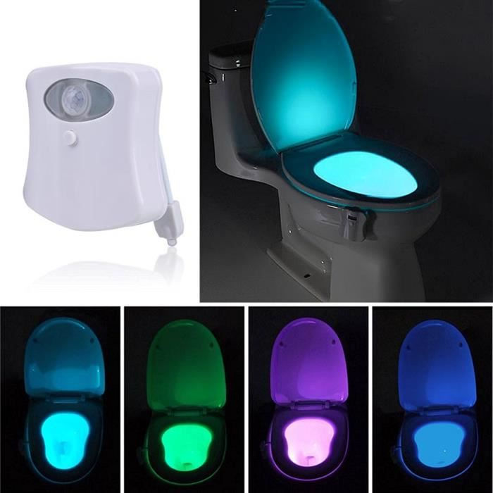 memeda lampe de toilette veilleuse led pour wc salle de bain lavabo d tecteur de mouvement. Black Bedroom Furniture Sets. Home Design Ideas