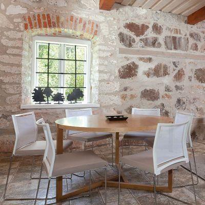 grande table ronde collection scandiwood en c achat. Black Bedroom Furniture Sets. Home Design Ideas