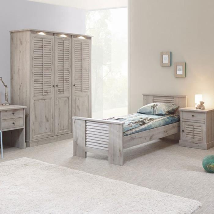 Chambre individuelle couleur chêne gris ARIZONA 2 Option 2 ...