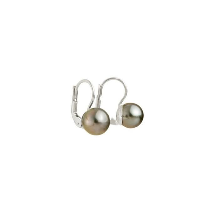 Boucles dOreilles Perle de Tahiti et Argent 925/1000- Blue Pearls