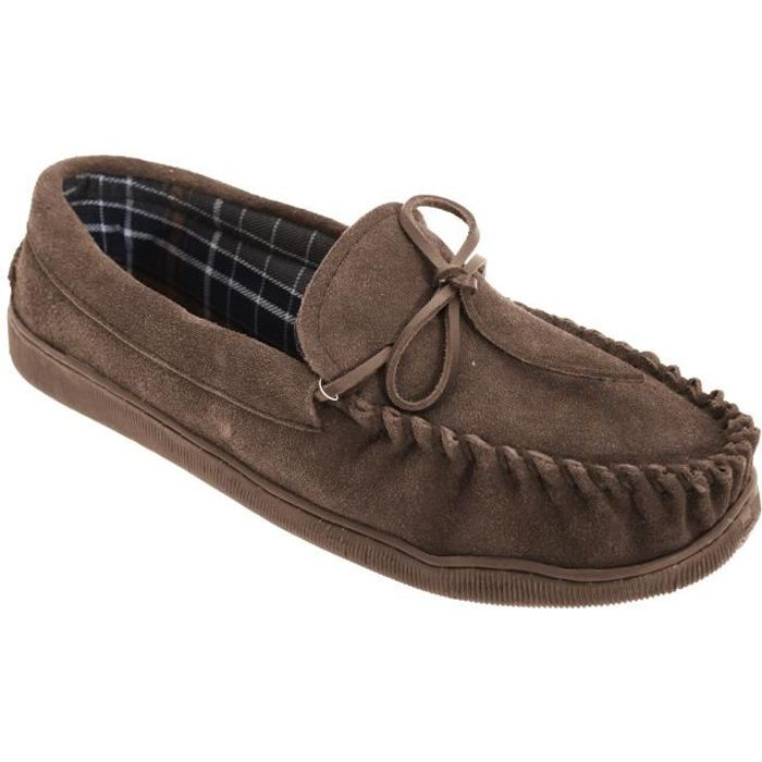 Sleepers Adie - Chaussons en cuir suédé style mocassins - Homme EjvnY