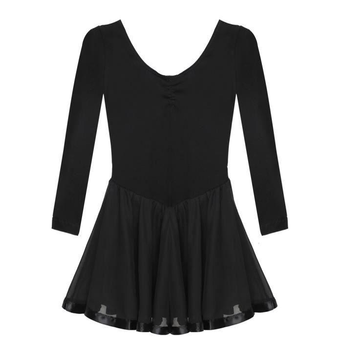 Robe de ballet fille en coton mélangé Arshiner manches longues col rond robe fille