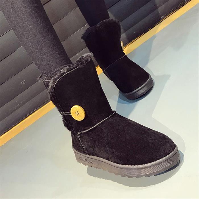 Botte De Neiges 2018 Nouvelle Mode Haut Qualité Confortable Antidérapant Durable Chaussure Couleur gris marron noir Taille 35-40 xvmtQJ