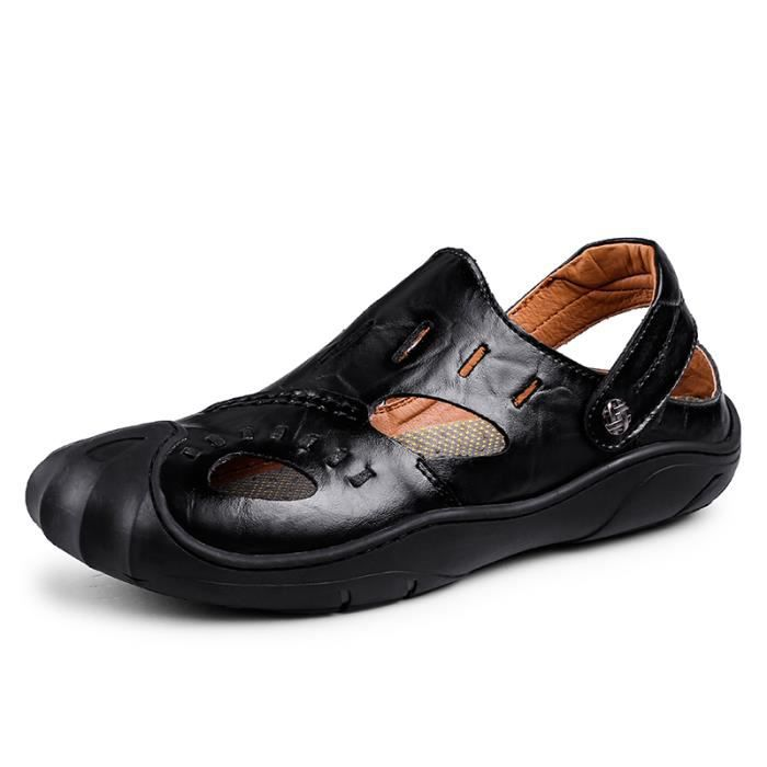 Cuir D'eau Homme En Randonnée Sandales Sandale Chaussure 34RjL5Aq