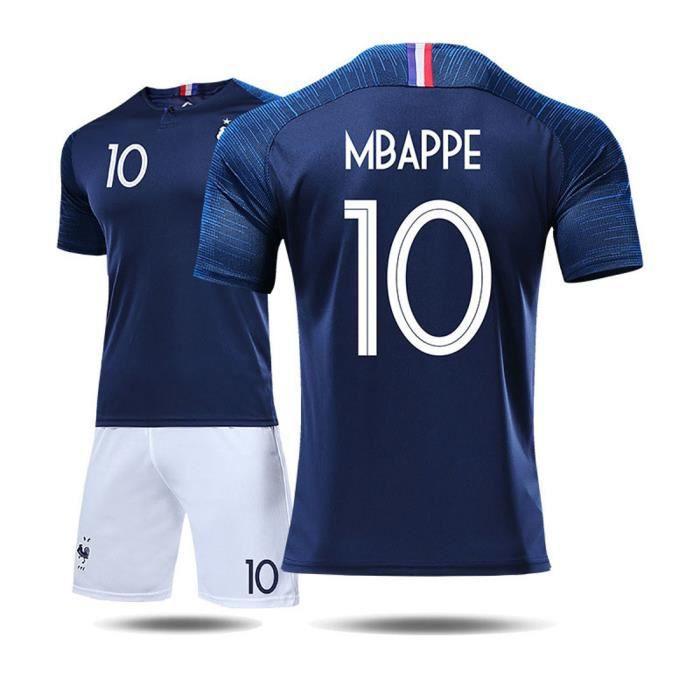0c51b304935ab MBAPPE Maillot Equipe de france 2 étoiles - Maillot et Shorts de football -  Homme Bleu