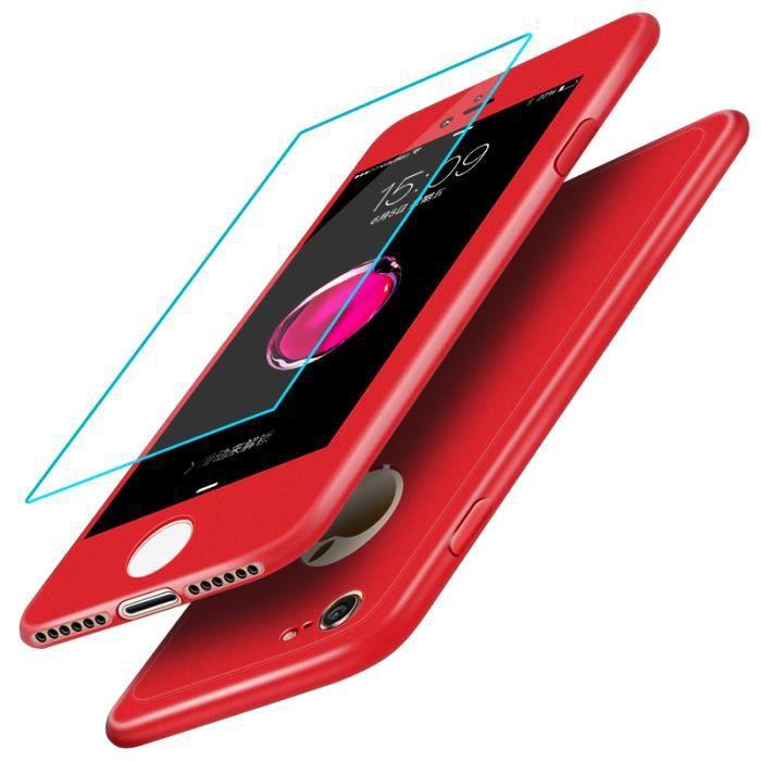 coque integrale rouge iphone 7