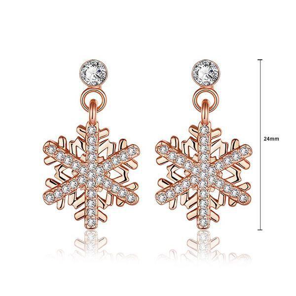 Glamorousky 925 boucles doreilles en argent sterling avec cristal délément autrichien (24141)