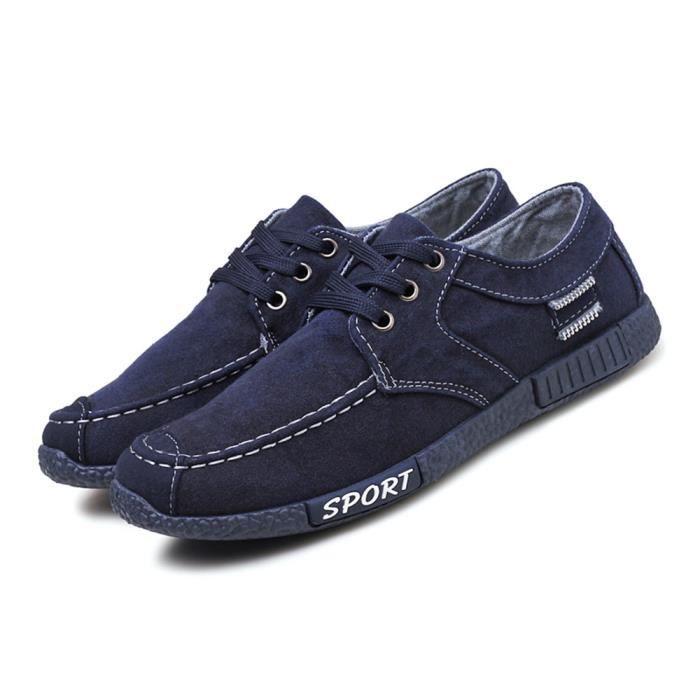 Chaussures En Toile Hommes Basses Quatre Saisons Haute Qualité GD-XZ132Bleu43